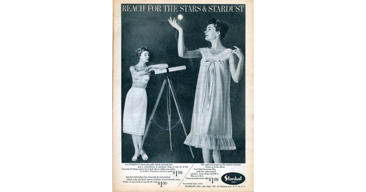 More Stargazing In Underwear, Obviously  Vintage Lingerie Ads  Popsugar Love  Sex -5198