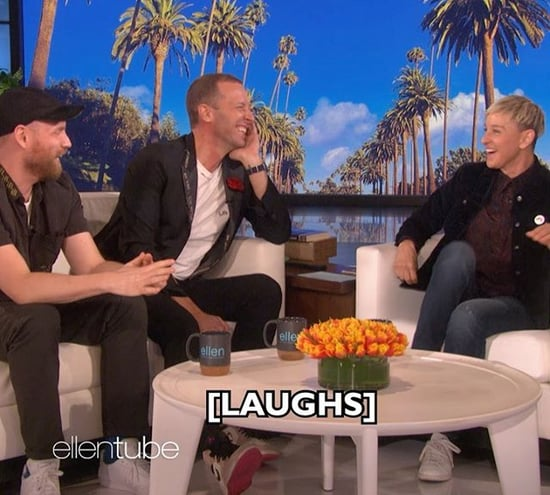 Chris Martin Reacts to Old Video on Ellen