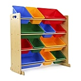 Tot Tutors Kids' Toy Storage Organizer With 12 Plastic Bins