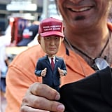 Trump bobbleheads were all the rage.