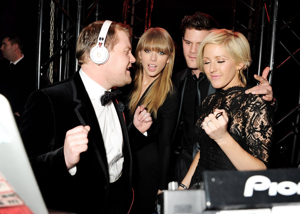 Ellie Goulding With James Corden, Taylor Swift, and Jeremy Irvine
