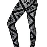 Comfy Yoga Pants - High Waisted Yoga Leggings With Bohemian Print