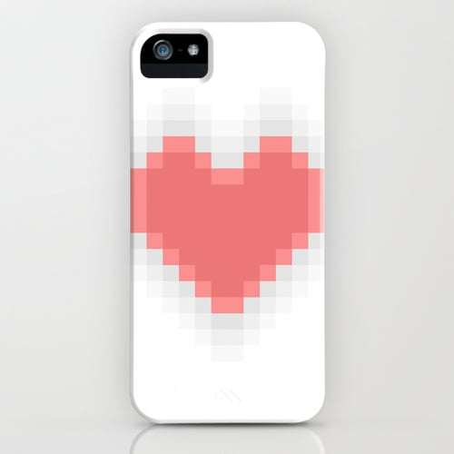Pixel heart case ($35) for iPhone models and Samsung Galaxy S