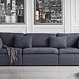 Large Classic Living Room Linen Fabric Sofa