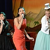 Jenna Ushkowitz, Naya Rivera, and Heather Morris in Glee. Photo courtesy of Fox