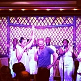 Jesse Tyler Ferguson got on stage with the choir during a gospel brunch. Source: Instagram user jessetyler