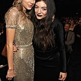 Lorde celebrated her win at the Grammy Awards with pal Taylor Swift.