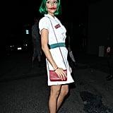 Ashley Madekwe donned a nurse's uniform, channeling Heath Ledger as the Joker in The Dark Knight.