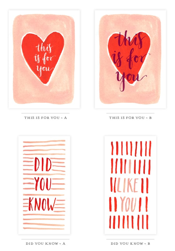 Watercolour Valentine S Printables Valentine S Day Free Printable