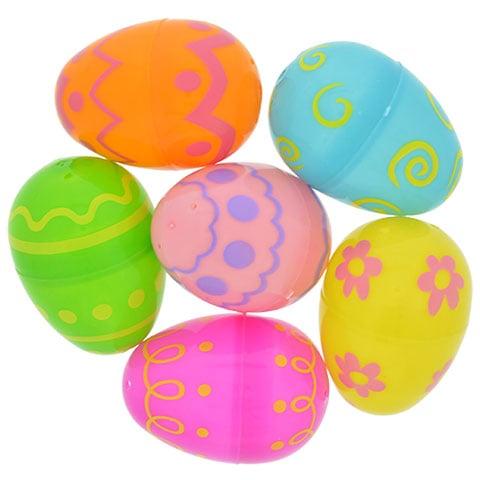 Decorated Plastic Easter Eggs