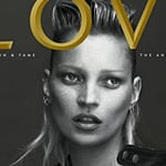 Kate Moss and Lea T Pose Alone for Love Magazine for February 2011