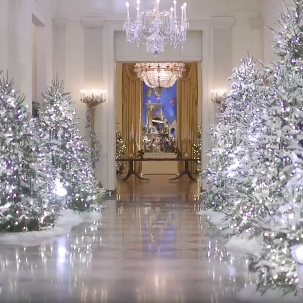 White house christmas decorating 2017 White christmas centerpieces