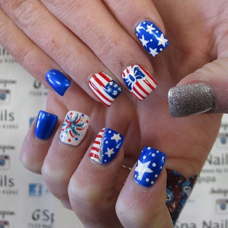 July 4 Nail Art Ideas | POPSUGAR Beauty