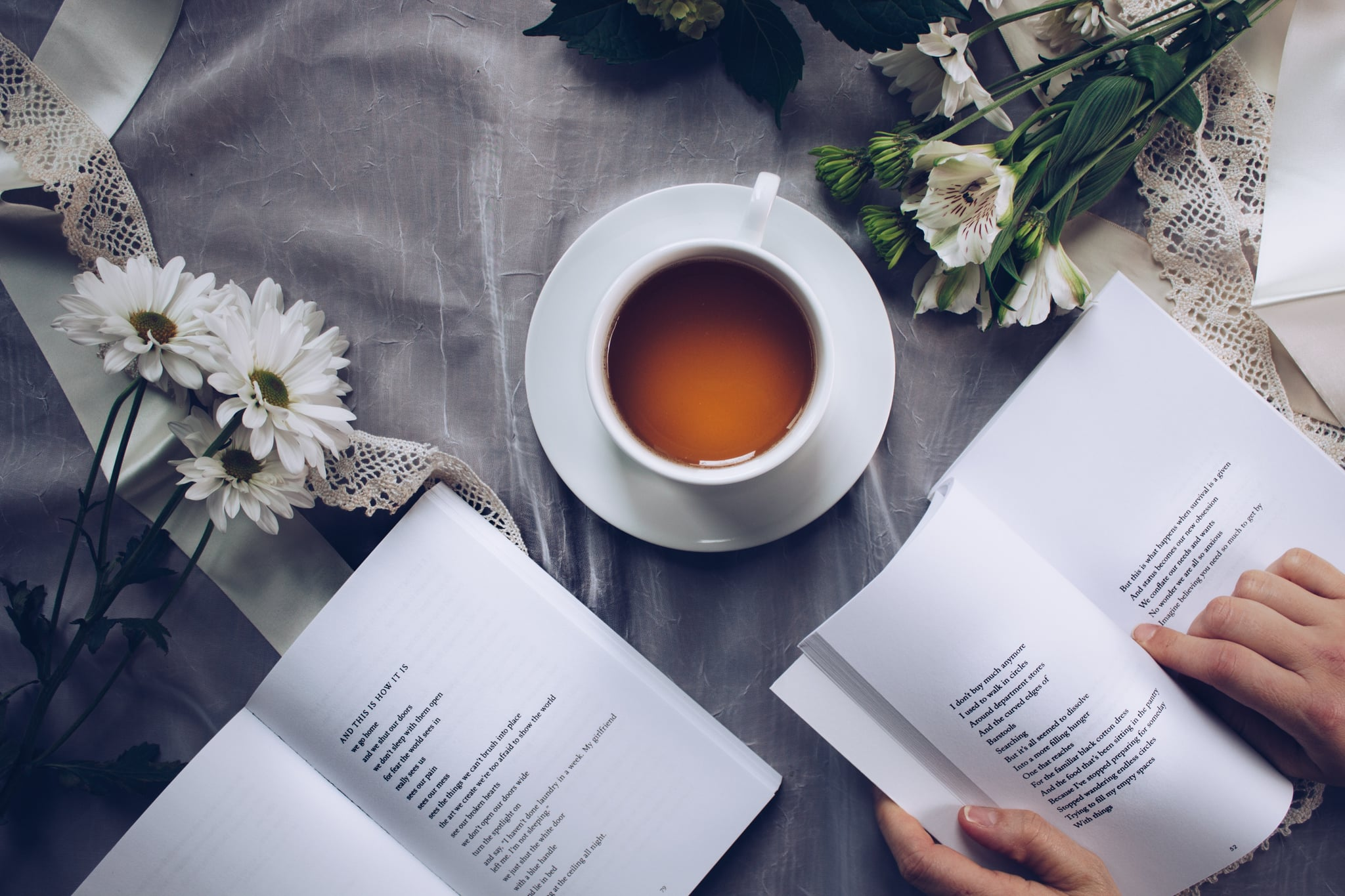 Image result for tea and books