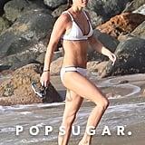 Pippa Middleton White Bikini January 2019