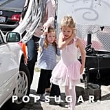 Jennifer Garner led daughters Seraphina Affleck and Violet Affleck to the car after a ballet class in LA.