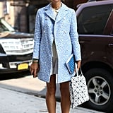 This perky print lent a vintage-vibe to casual shorts and a blouse.