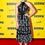 Mandy looked stunning in this floral halter dress (again with the florals!) as she attended a SXSW conference with the rest of the This Is Us cast in March 2018.