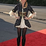 Real Housewife of Beverly Hills Camille Grammer hits the red carpet as a buccaneer.
