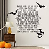 Double Double Toil and Trouble Halloween Wall Decal