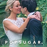 Katrina Bowden and Ben Jorgensen kissed at their Brooklyn wedding.