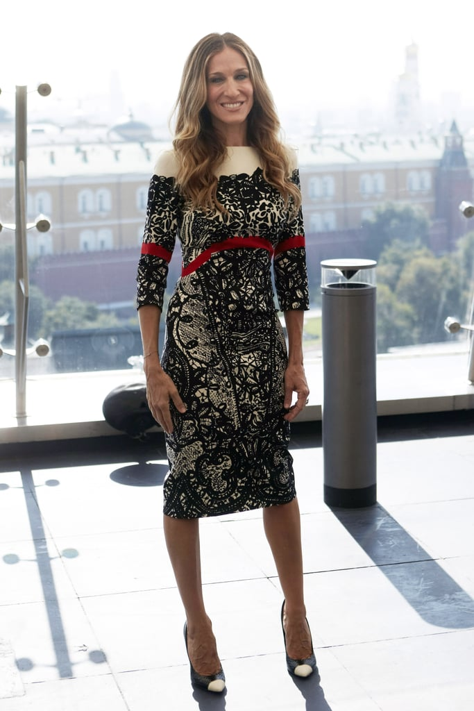 Sarah Jessica Parker promotes I Don't Know How She Does It at a Moscow photo call.