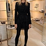 Karolina Kurkova stuns in all black.