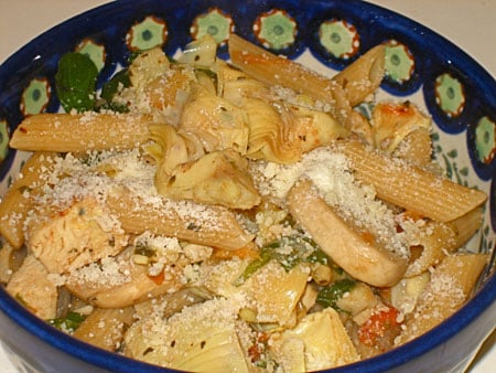 Veggie Loaded Penne With White Wine Sauce