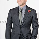 Daniel Craig donned a suit for a photocall in London.