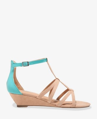 Forever 21 Neon Strap Wedge Sandals