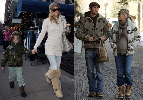 Photos of Kate Hudson, Ryder Robinson, Oliver Hudson, Goldie Hawn, Elle Macpherson In Aspen For Christmas