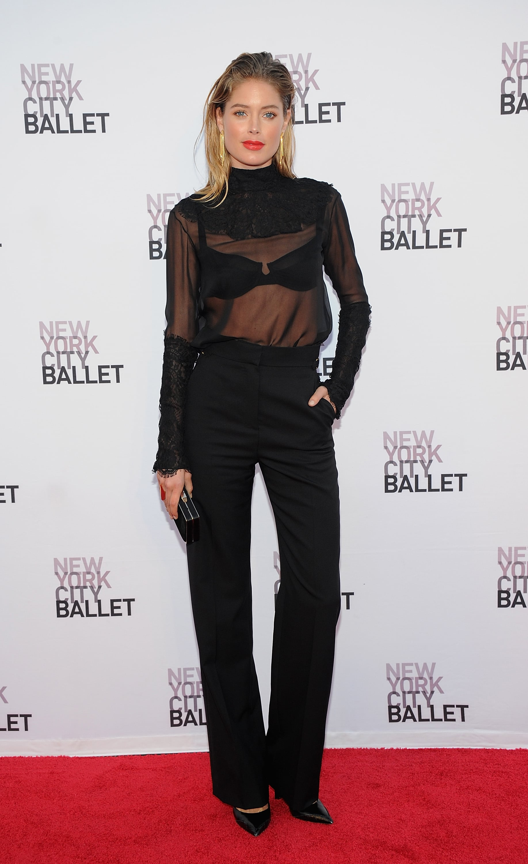 Doutzen Kroes was sheer perfection in her peekaboo black ensemble at the New York City Ballet gala.
