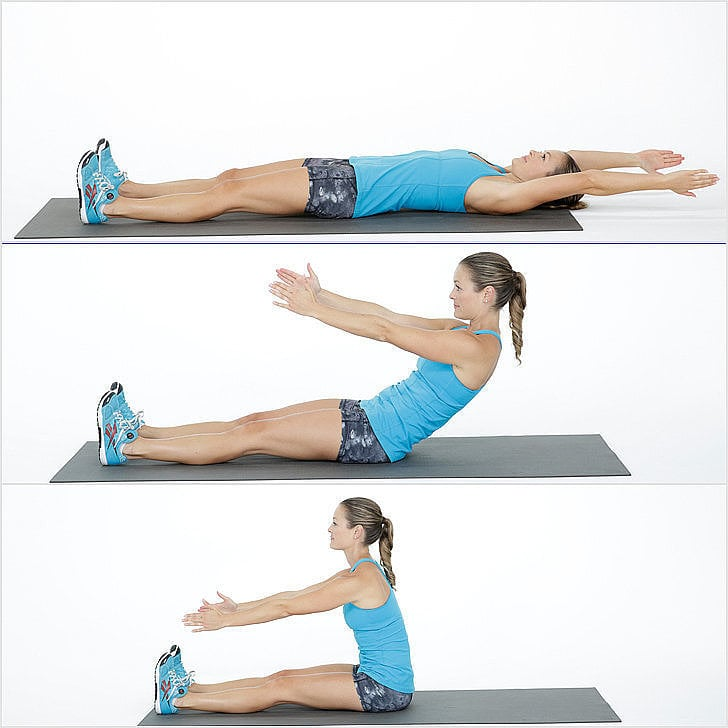 Ab Roll-Up Exercise | POPSUGAR Fitness