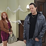 Melissa McMeekin as Megan and Dean Winters as Dennis on 30 Rock.
