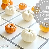 Autumn Tic-Tac-Toe Table
