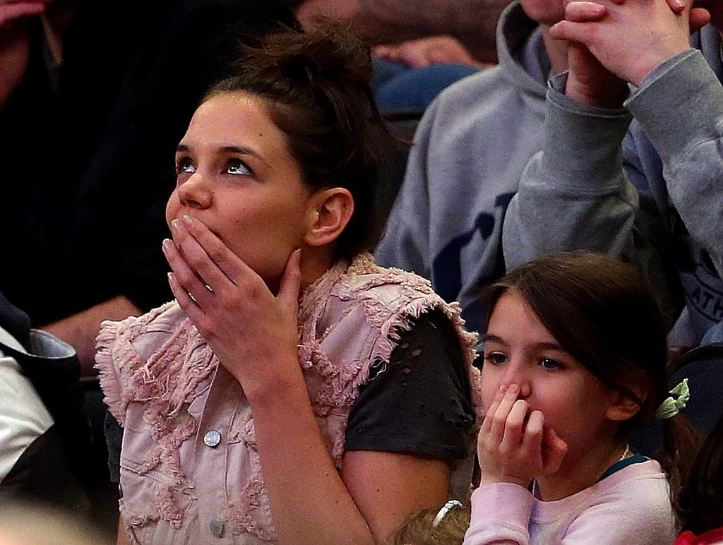 Katie and Suri Get Animated on a Mother-Daughter March Madness Date