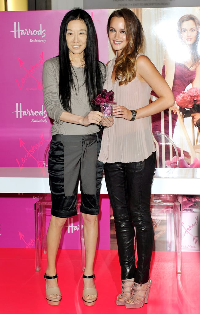 Pictures of Leighton Meester and Vera Wang at Harrods Perfume Launch