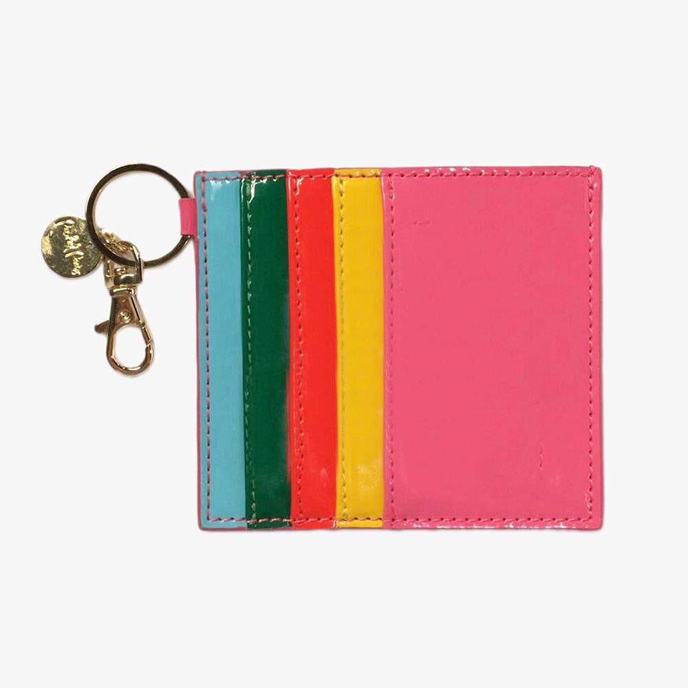 Rainbow Card Holder Keychain