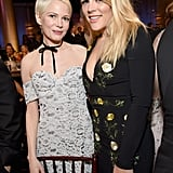 Michelle Williams Brings Her Good Luck Charm and BFF Busy Philipps to the Golden Globes