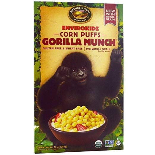 Nature's Path Organic Corn Puffs Gorilla Munch Cereal