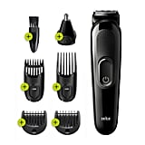 Braun 6-in-1 Mens Rechargeable Wet & Dry Electric Shaver & Trimmer Kit