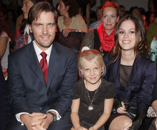 Slide Photo of Rachel Bilson With James Ferragamo at Salvatore's Show in Milan During Milan Fashion Week