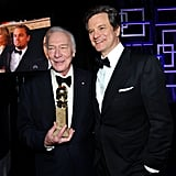 Colin Firth and Christopher Plummer caught up.