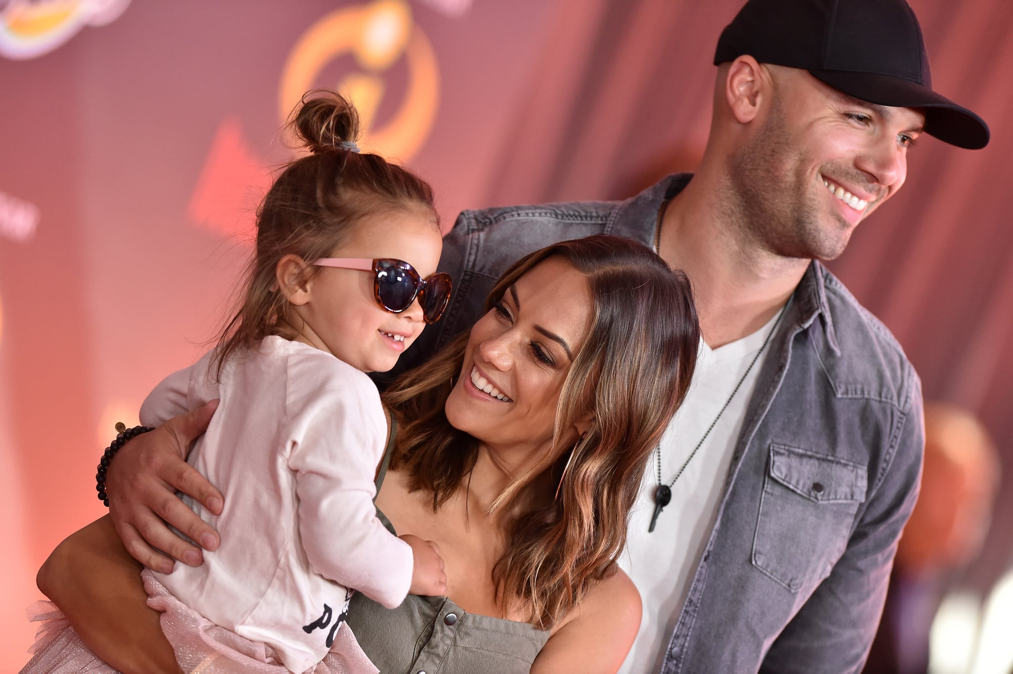 LOS ANGELES, CA - JUNE 05:  Actress Jana Kramer, Mike Caussin and daughter Jolie Rae Caussin attend the World Premiere of Disney and Pixar's 'Incredibles 2' on June 5, 2018 in Los Angeles, California.  (Photo by Axelle/Bauer-Griffin/FilmMagic)