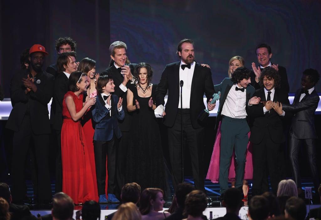 Stranger Things Cast At The Sag Awards 2017 Popsugar