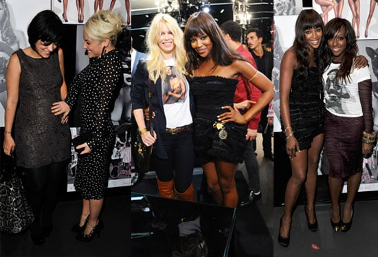 Naomi Campbell and D&G Party During London Fashion Week With Lily Allen, Claudia Schiffer