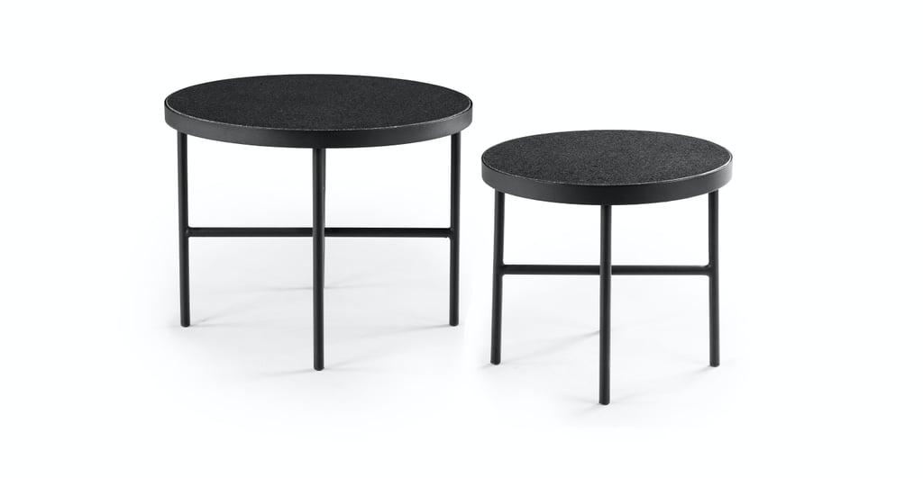 Article Gera Black Granite Side Table Set