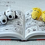 Snoopy and Woodstock Crochet Baby Booties
