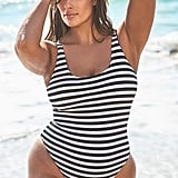 Swimsuits For All Hotshot Striped Ribbed One-Piece