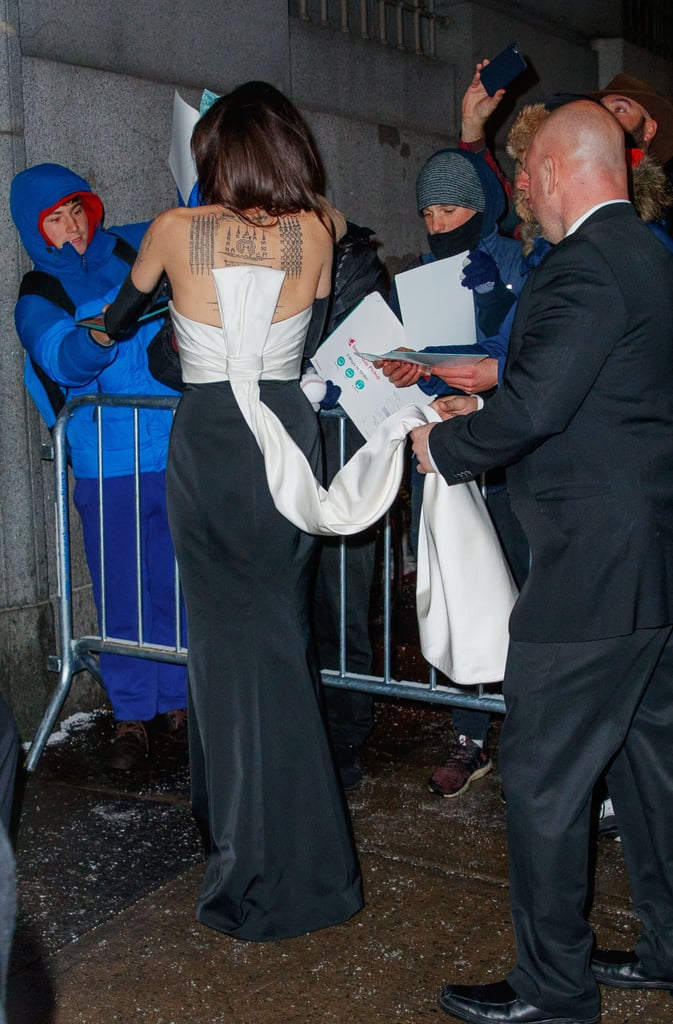 Angelina Jolie Black Dress With Gloves Popsugar Fashion Photo 3